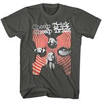 Cheap Trick- Hypno Pic on a charcoal ringspun cotton shirt