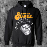 Clockwork Orange- Eyes Open on a black hooded sweatshirt