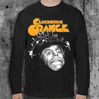 Clockwork Orange- Eyes Open on a black LONG SLEEVE shirt