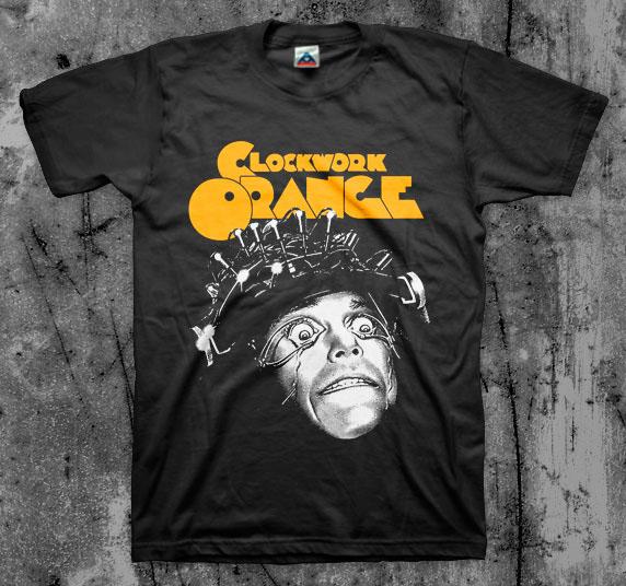 Clockwork Orange- Eyes Open on a black shirt