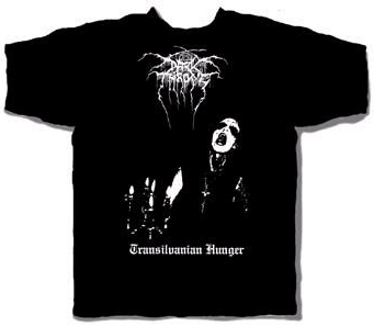 Darkthrone- Transylvanian Hunger on front, Moon on back on a black shirt