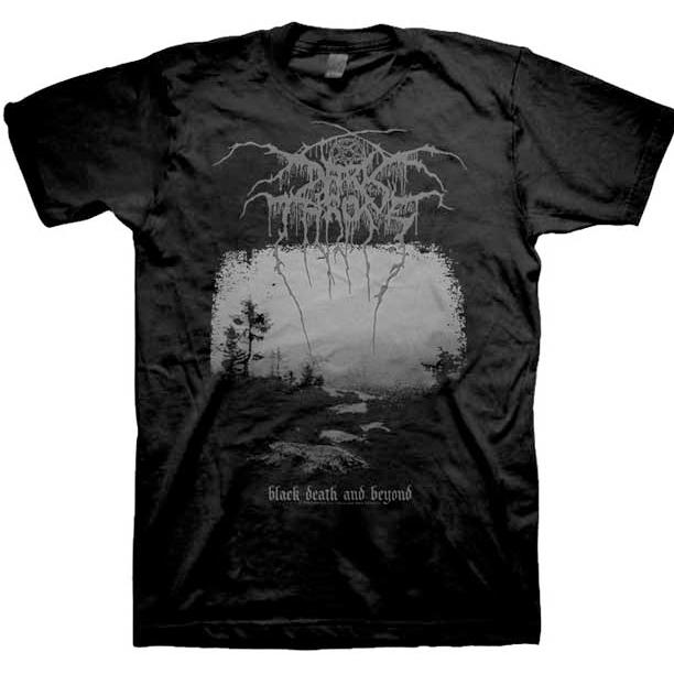 Darkthrone- Black Death And Beyond on a black shirt