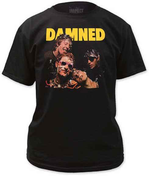 Damned- Damned Damned Damned on a black shirt (Sale price!)