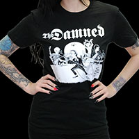 Damned- Music Is The Brandy Of The Damned Cartoon on a black shirt