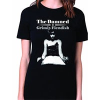 Damned- Grimly Fiendish on a black girls fitted shirt