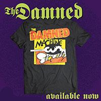 Damned- Machine Gun Ettiquette (Logo) on a black shirt