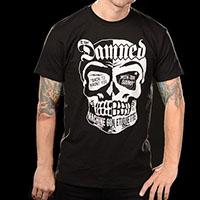 Damned- Machine Gun Ettiquette (Skull) on a black shirt