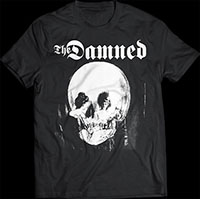 Damned- Stretcher Case (Skull Mirror) on a black shirt