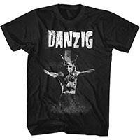 Danzig- Cross on a black shirt