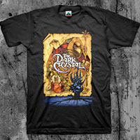 Dark Crystal- Collage (Full Color Print) on a black shirt
