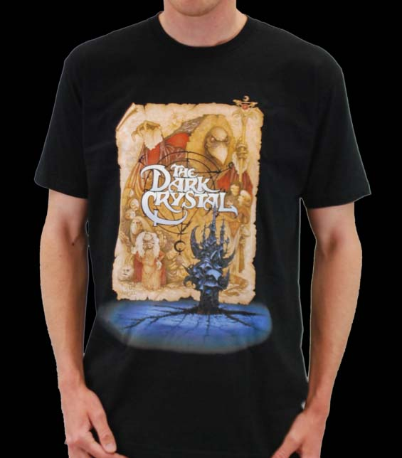Dark Crystal- Map Poster on a black ringspun cotton shirt