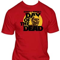 Day Of The Dead- Zombie Head on a red shirt
