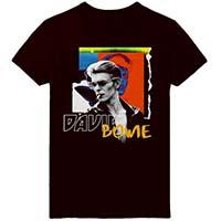 David Bowie- Thriller on a black ringspun cotton shirt