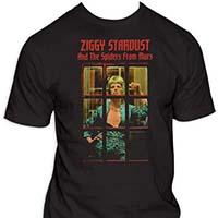 David Bowie- Ziggy Stardust (Phone Booth) on a black shirt