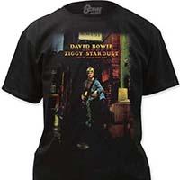 David Bowie- Ziggy Stardust on a black shirt