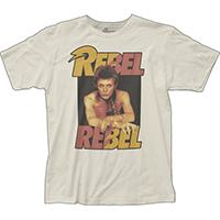 David Bowie- Rebel Rebel on a vintage white ringspun cotton shirt