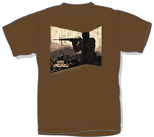 Dawn of The Dead- Gunman on a brown shirt (Sale price!)