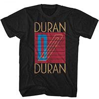 Duran Duran- Logo on a black ringspun cotton shirt