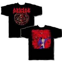 Deicide- Medallion on front, Demons on back on a black shirt
