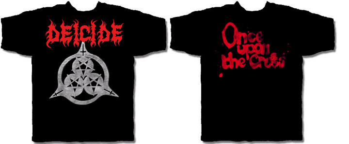 Deicide- Pentagrams Symbol on front, Once Upon The Cross ...