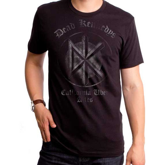Dead Kennedys- California Uber Alles on a black ringspun cotton shirt by Goodie Two Sleeves