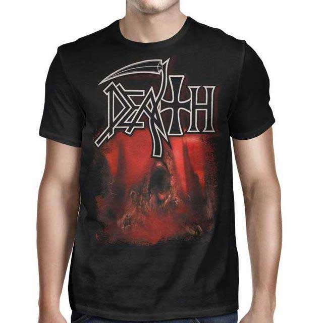 Death- Sound Of Perseverance on front & back on a black shirt