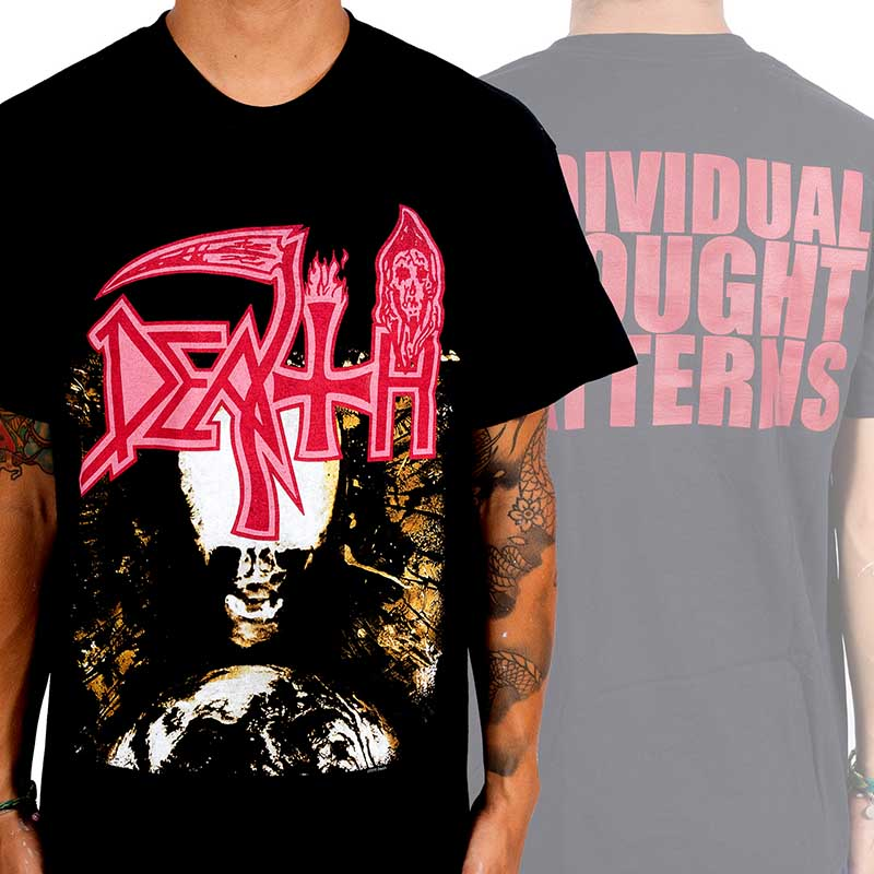 Death- Individual Thought Patterns on front & back on a black shirt