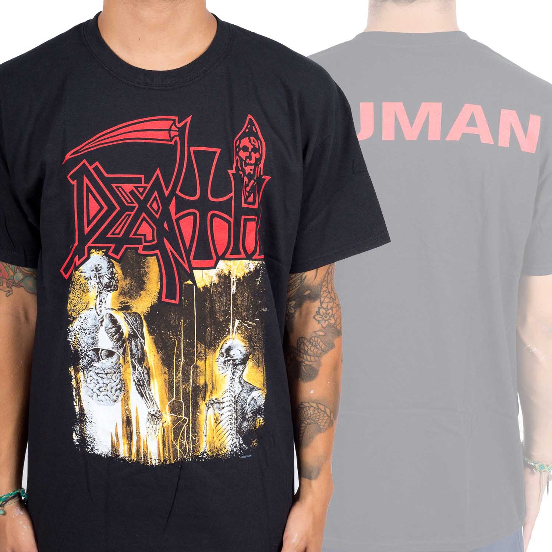 Death- Human on a black shirt