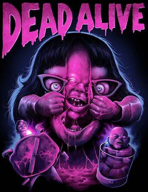 Dead Alive- Face Rip on a black shirt