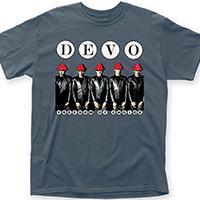 Devo- Freedom Of Choice on a blue/grey shirt