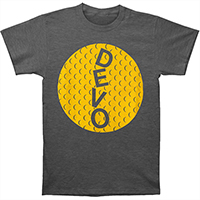Devo- Golfball on a charcoal heather ringspun cotton shirt