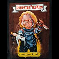 Dumpster Fire Kids (Childs Play/Chucky) on a black shirt
