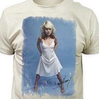 Blondie- Debbie Harry White Dress on a vintage white ringspun cotton shirt