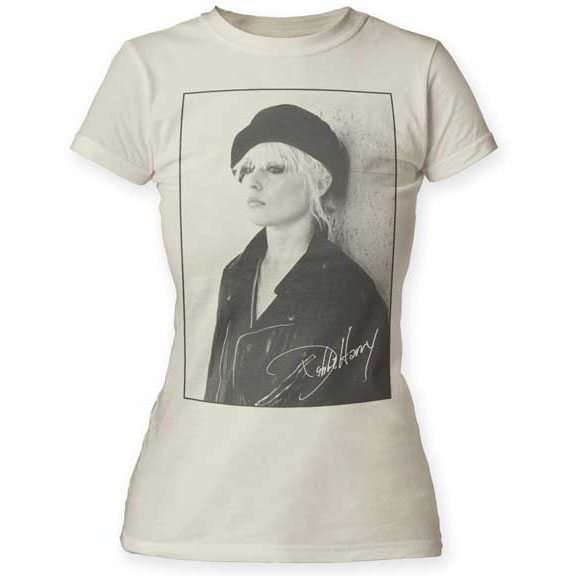 Blondie- Debbie Harry Beret Pic on a vintage white girls shirt