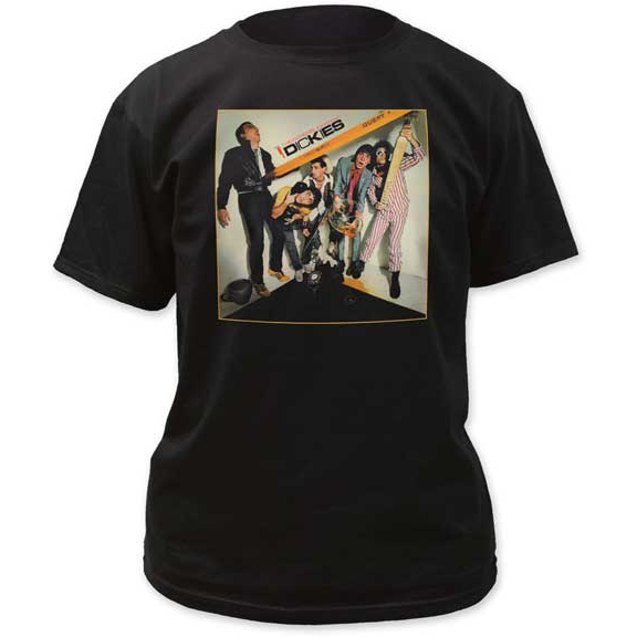 Dickies- The Incredible Shrinking Dickies on a black shirt (Sale price!)
