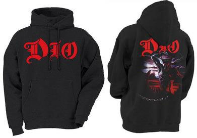 Dio- Logo on front, Chains on back on a black hooded sweatshirt (Sale price!)