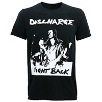 Discharge- Fight Back on a black shirt