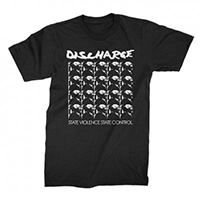 Discharge- State Violence State Control on a black shirt