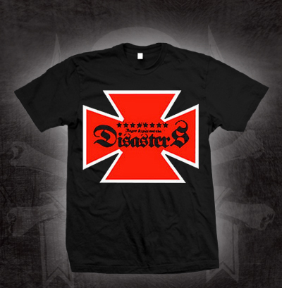 Roger Miret And The Disasters- Iron Cross Logo on a black shirt (Sale price!)