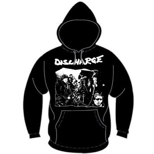 Discharge- Live on a black hooded sweatshirt (Sale price!)