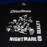 Disclose- Nightmare Or Reality on a black shirt