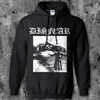 Disfear- House on front, Defenders Of D-Beat on back on a black hooded sweatshirt