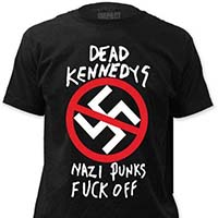 Dead Kennedys- Nazi Punks Fuck Off on a black ringspun cotton shirt