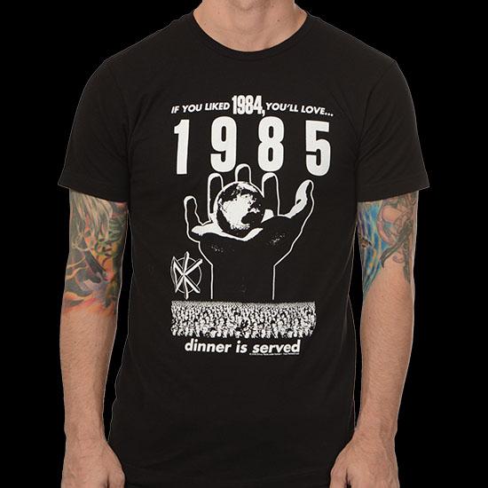 Dead Kennedys- 1985 on a black ringspun cotton shirt
