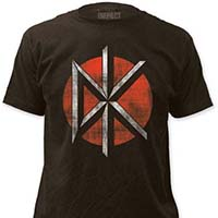 Dead Kennedys- Distressed DK (Red Circle) on a charcoal ringspun cotton shirt