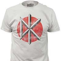 Dead Kennedys- Distressed DK on a vintage white ringspun cotton shirt