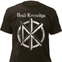 Dead Kennedys- Distressed DK & Old English Logo on a charcoal ringspun cotton shirt
