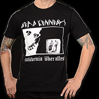 Dead Kennedys- California Uber Alles on a black ringspun cotton shirt