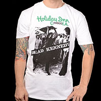 Dead Kennedys- Holiday Inn Cambodia on a white ringspun cotton shirt