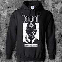 Doom- Doomageddon on a black hooded sweatshirt